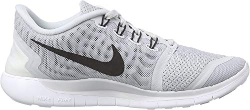Nike Womens Free 5.0 Running Shoe Pure Platinum/Wolf Grey/Cool Grey/Black 9