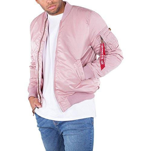 Alpha Industries MA-1 VF 59 lange Jacke Rosa XL