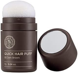 The Face Shop Quick Hair Puff 02 DARK BROWN for Hair Line Makeup Men/Women [VM Korea]
