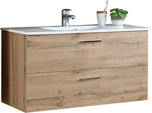 Wohnorama Bad-Waschbeckenunterschrank inkl Becken Best von Bega Wildeiche by