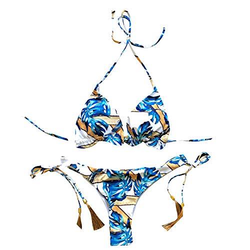 KAKIO Bandeau - Conjunto de bikini para mujer con push-up