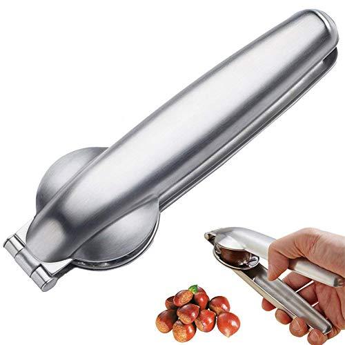 DUBENS Premium 2-in-1 Schnell Kastanien Clip Nussknacker Scheller Walnuss Zangen Metall Opener 304 Edelstahl küche Werkzeuge