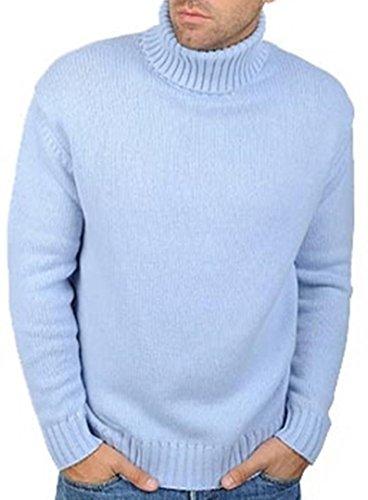 Balldiri Premium Cashmere Herren Rollkragen Pullover 10-fädig himmelblau XXXXL