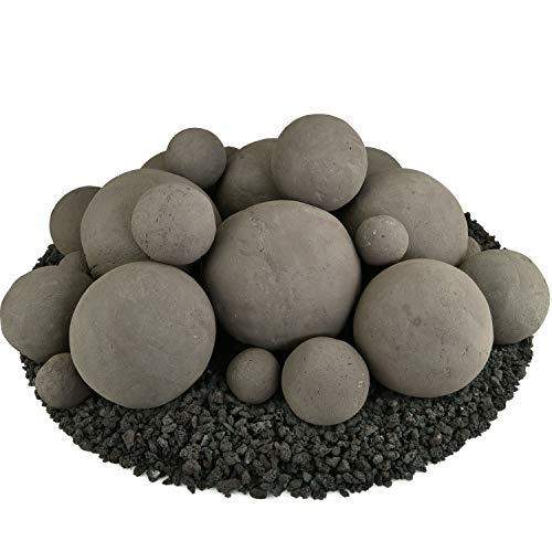 Why Choose Ceramic Fire Balls | Mixed Set of 23 | Modern Accessory for Indoor and Outdoor Fire Pits ...