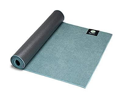 """Kulae Elite Hybrid Non-Slip Eco-Friendly Hot Yoga Mat/Towel Combo for All Types of Yoga and Fitness, 72"""" x 24"""" (Blue, 5mm)"""