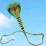 MEICHEN 15 m Serpiente Cometa Serpiente Grande Cometa con línea de manija Juguetes al Aire Libre para Adulto pájaro Cometa águila Abeja Animal