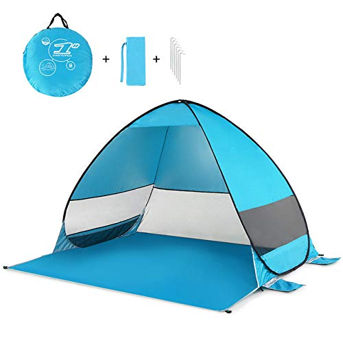 Tent Outdoor Automatic Instant Pop-Up Portable Beach Tent Uv Protection Shelter Camping Fishing Hiking Picnic