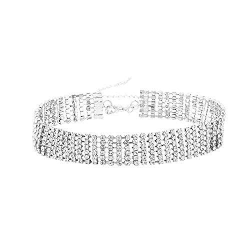 Collar Collar Collar De Cerradura Cadena De Hueso Corto Mujer