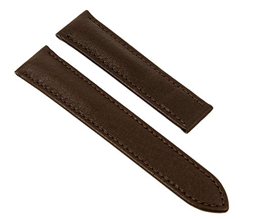 Maurice Lacroix Pontos 26078 - Correa de repuesto para cierre de pinza (piel, sin emblema, ancho de la trabilla: 21 mm), color marrón oscuro