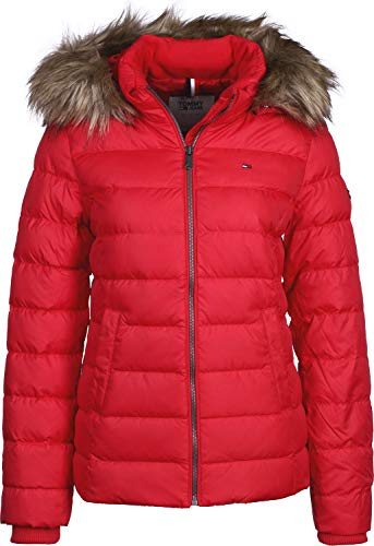 Tommy Hilfiger Essential Hooded Down Giacca, Rosso (Samba 602), X-Small Donna