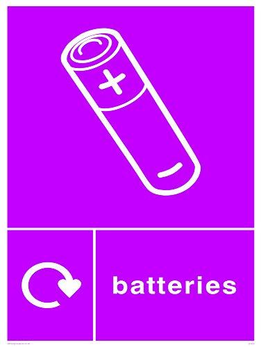 Viking Schilder ij1430-a3p-ac recycling-batteries Schild aus Aluminium, Composite, 400mm H x 300mm W