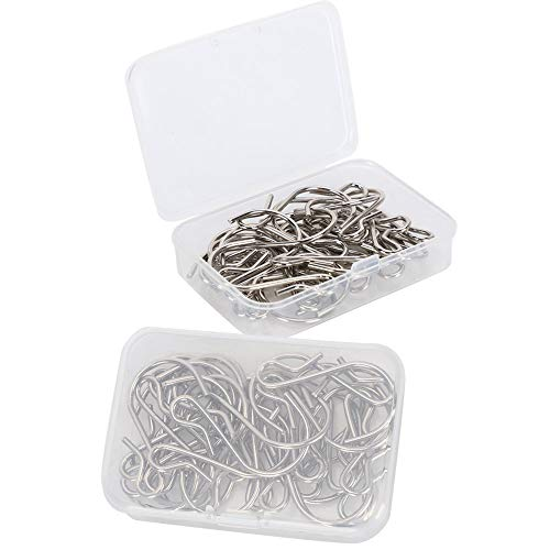 60 Pieces S Hooks Pan Hooks Kitchen Hooks High-Performance Hangers Multifunctional Metal Hangers for do-it-yourselfers, Hanging Jewelry, Key Rings, Pendants