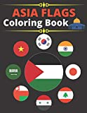 Asia Flags Coloring Book