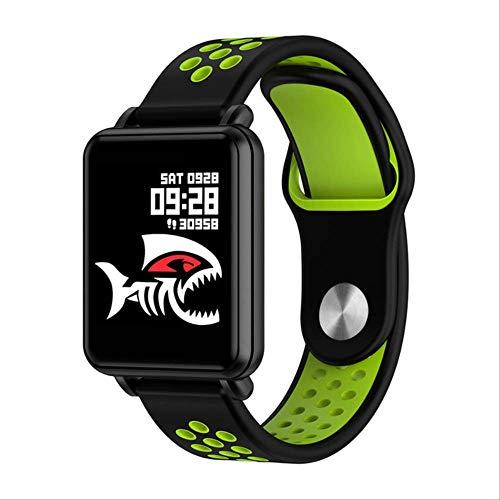 WFQ Watch Smart Watch mit Full Touchscreen Wasserdicht Bluetooth für Sport Fitness Tracker Smart Watch für Männer für zweifarbiges Armband Grün