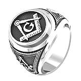Freemason Masonic Ring, Freemason Master Ring, Mens Masonic Ring 925 Sterling Silver