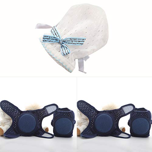 Haokaini Baby Knieschützer und Fäustlinge, Anti-Rutsch-, Anti-Kratz-, verstellbare Kleinkinder-Kordelzug Atmungsaktive Knieschoner und...