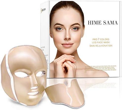 HIME SAMA Led Skin Mask Pro 7 Color Led Face Mask Skincare for Face and Neck Facial Care Mask product image