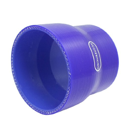 sourcing map Turbo Aire Acoplador Recto Tubo Reductor Silicona Azul 70mm A 80mm