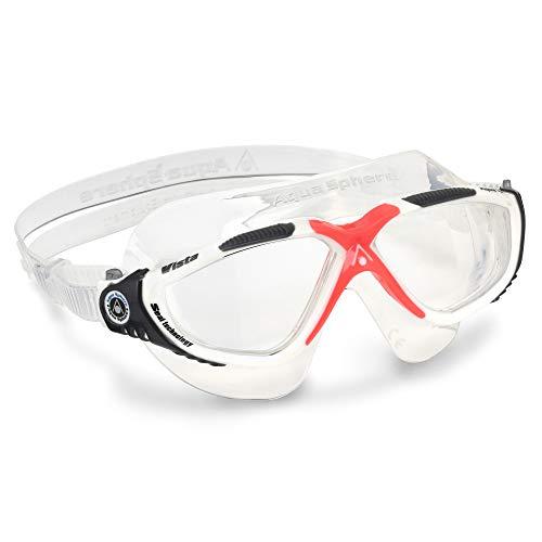Aqua Sphere Vista Máscara de natación, Unisex Adulto, Obsesión Roja, Talla única