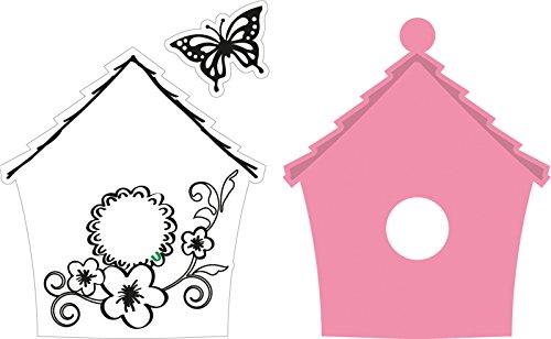 Marianne Design Fustella Collectables Casetta da Uccelli a Fiori, Metal, Pink, 5.2x6.2x0.4 cm