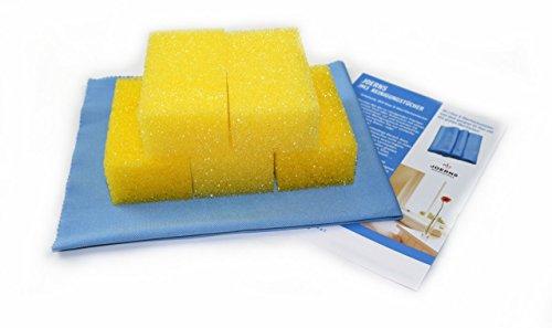 Éponge de rechange pour pierre de nettoyage avec chiffon en après en kit avec 10 éponges – Taille. 10 x 4 x 6 cm