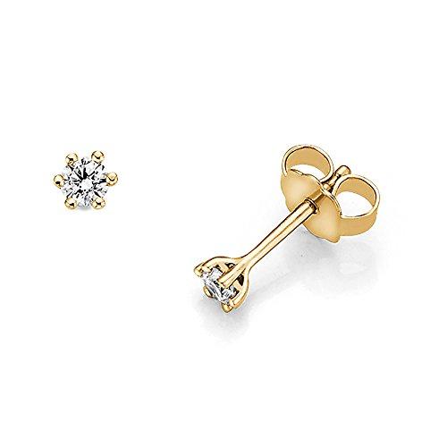 trendor Gold-Ohrstecker mit Diamanten 532514
