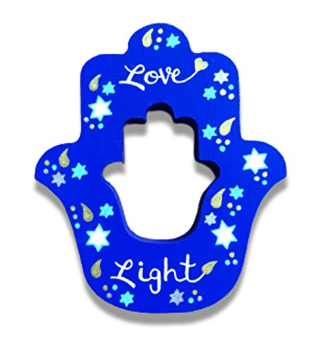 Hanukkah Decoration, Self Standing Hamsa Hand, Love and Light, Tabletop Decor, Jewish Gift