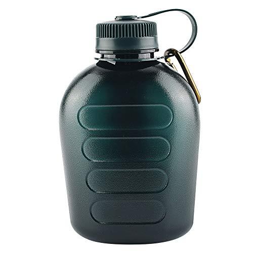 CZ-XING - Borraccia militare in plastica da 1000 ml, senza BPA, portatile, resistente all'usura, resistente alle cadute, adatto per sport all'aperto, arrampicata, ciclismo, escursionismo, picnic