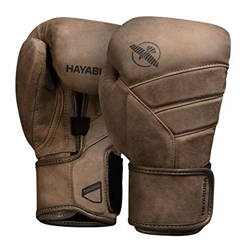 Hayabusa T3 LX Italian Leather Boxing Gloves - Brown, 16oz