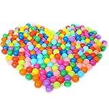 20/50/100 Bolas de Colores Plástico Pelotas Multicolores del Océano respetuoso del medio ambiente de colores de plástico (Vistoso, Paquete de 20)