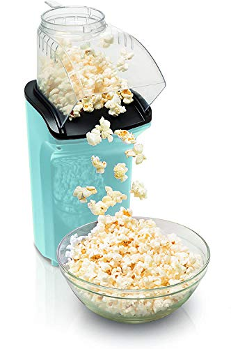 Kitchen Academy Hot Air Popcorn Popper, No Oil Popcorn Maker with Measuring Cup and Removable Lid