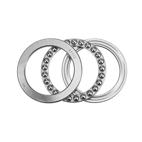 uxcell 51115 Thrust Ball Bearings 70mm x 95mm x 18mm Chrome Steel Single Direction