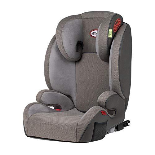 HEYNER® Kindersitz 2in1 mit abnehmbarer Rückenlehne 15-36 kg Isofix Autokindersitz Sitzerhöhung (grau)