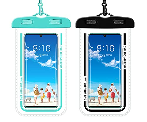 Clear Universal Waterproof Cellphone Pouch Case,Phone Dry Bag,with Lanyard,for iPhone 12 Pro 11 Pro...