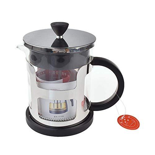 Cafetera Presión espesa el pote de cristal del acero inoxidable French Press Coffee Pot filtro de métodos Presión del calderín Europea té Mano Cafetera, 600ml Para el hogar, la cocina, la oficina.