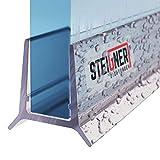 STEIGNER Joint de douche pour paroi en verre, 100cm, vitre 5/6 mm, joint d'étanchéité PVC droit pour les cabines de douche...