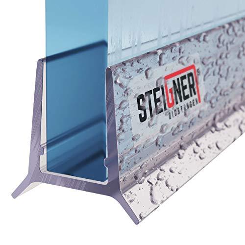 STEIGNER Duschdichtung, 80cm, Glasstärke 5/6 mm, Gerade PVC Ersatzdichtung für Dusche, UK24-06