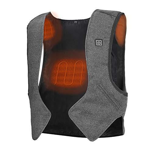PKSTONE Heated Vest, 5V Safe Electric Warm Jacket for Youth Kid Women Slim Fit Washable (No Battery) Black