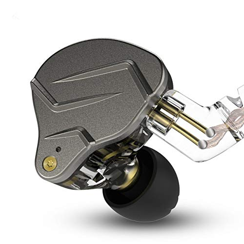 KZ ZSN Pro - Auriculares in-ear IEM, híbridos duales 1Balanced Armadura y 1Dynamic HiFi audífonos KZ