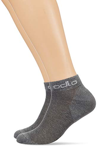 Odlo Socks Low Active 2 Pack, Grey Melange, 39-41