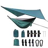 Mosquitera Hamaca Canopy Set Tienda de Nylon de paracaídas de Tela for Acampar al Aire Libre Patio para Patio Yard Garden Backyard Porch Travel (Color : Drak Green, Size : Hammock270x1401cm)