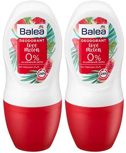 Balea 2x50 ml Aluminum-free Roll-On Deodorant LOVE MELON (pack of 2) | Germany