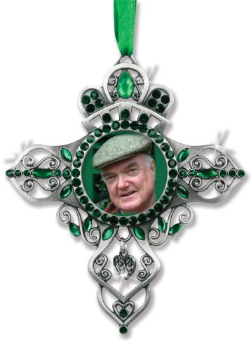 BANBERRY DESIGNS Irish Celtic Cross Photo Frame Hanging Ornament Picture Frame
