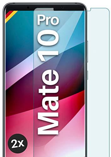 MoEx Pellicola in Vetro temperato HD Compatibile con Huawei Mate 10 PRO | Pellicola Protettiva in Vetro antiproiettile AntiGraffio + Pellicola Protettiva in Vetro 9H 2X Pezzi