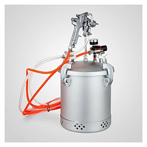 Sistema de pulverizador de pistola de pistola pulverizador de pistolas de pote de pote de pote de 2-1/2 galones
