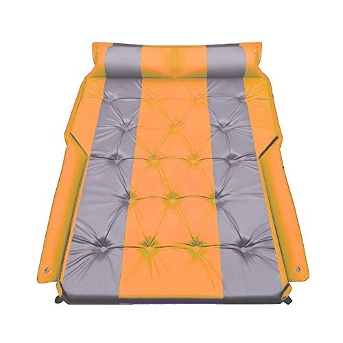XDT Car Bed Air Mattress Suv Inflatable Back Seat Travel Portable Travel Camping Mattress Sleep Bed Fit For Road Trips Universal SUV Car Mattress (Color Name : Orange)