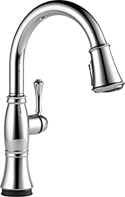 Delta Faucet Cassidy Single-Handle Touch Kitchen Sink Faucet with Pull Down Sprayer, Touch2O and ShieldSpray Technology, Magnetic Docking Spray Head, Chrome 9197T-DST