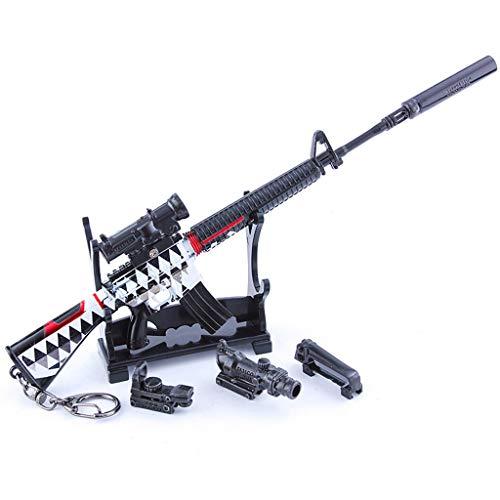 M16A4 Aleación Armas Serie 1/4 Leyenda Rifle Accesorios Llavero Juguetes de los Niños Modelo de Regalo Mochila Colgante Suministros de Fiesta