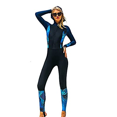 Full Body Rash Guard Dive Skins Lycra Wetsuit Swimsuit Diving Scuba Suits for Women Men Adult, One Piece Swimming Body Suit Sports Skin Long Sleeve Sun Protection for Surfing Snorkeling (Black, M)