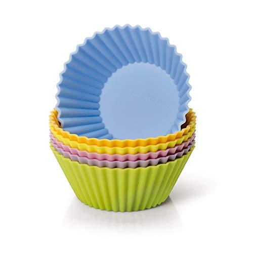 Kaiser Creativ Silikon Muffinförmchen 6 St. bunt, Silikonbackform antihaftbeschichtet, Muffin Förmchen wiederverwendbar, auch für Pudding, Eis